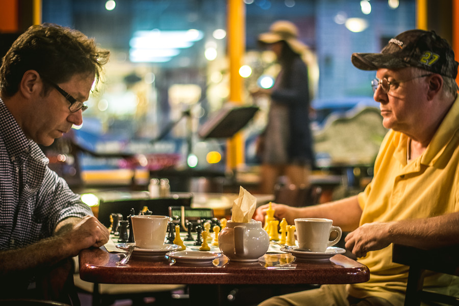 Events and Live music happening at steaming cup waukesha chess coffee shop